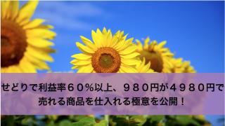 せどりで利益率60%以上、980円が4980円で売れる商品を仕入れる極意を公開!