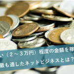お小遣い(2〜3万円)程度の金額を稼ぐのに最も適したネットビジネスとは?
